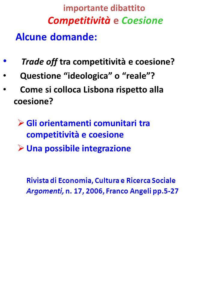 importante dibattito Competitività e Coesione