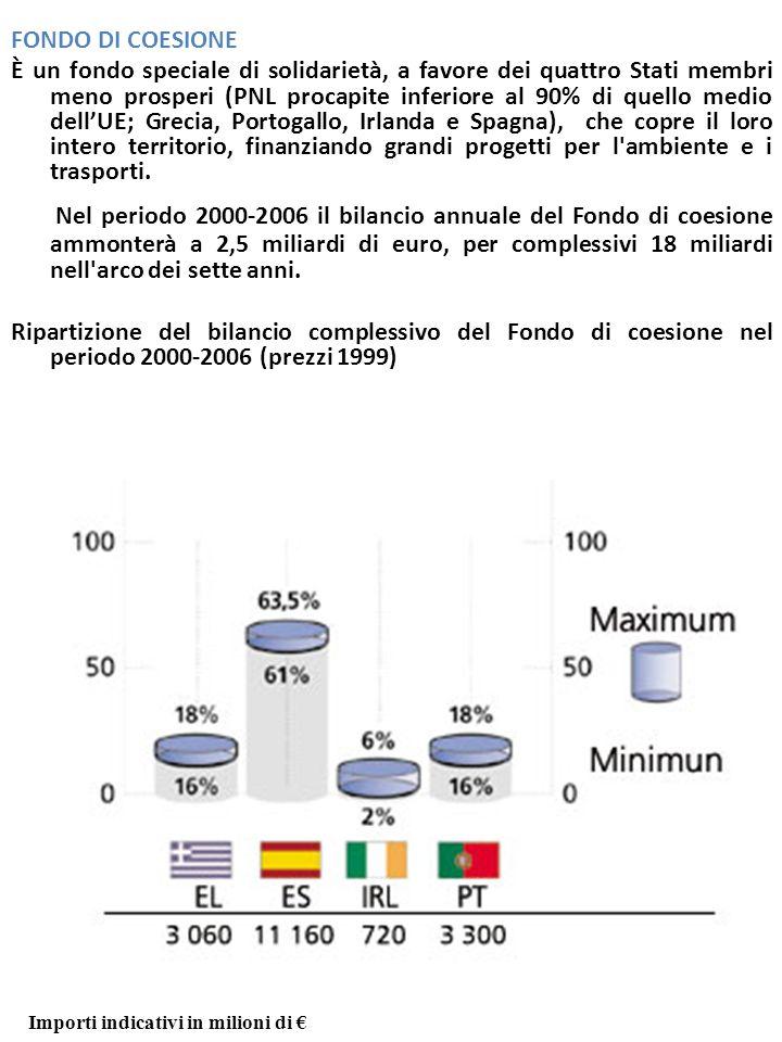 Il Fondo di Coesione FONDO DI COESIONE.