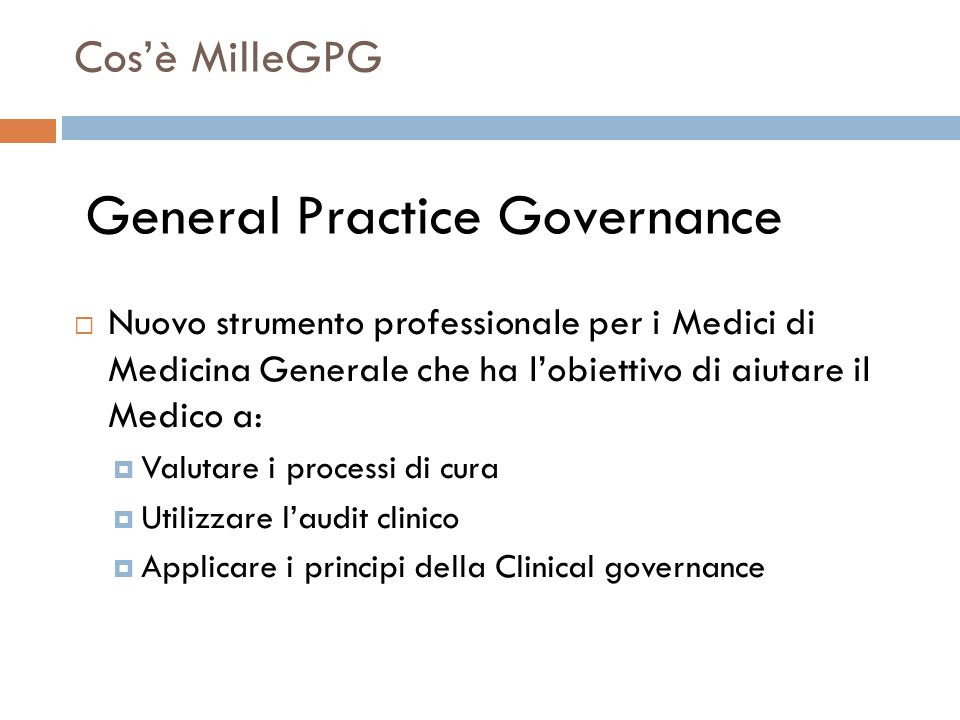 General Practice Governance