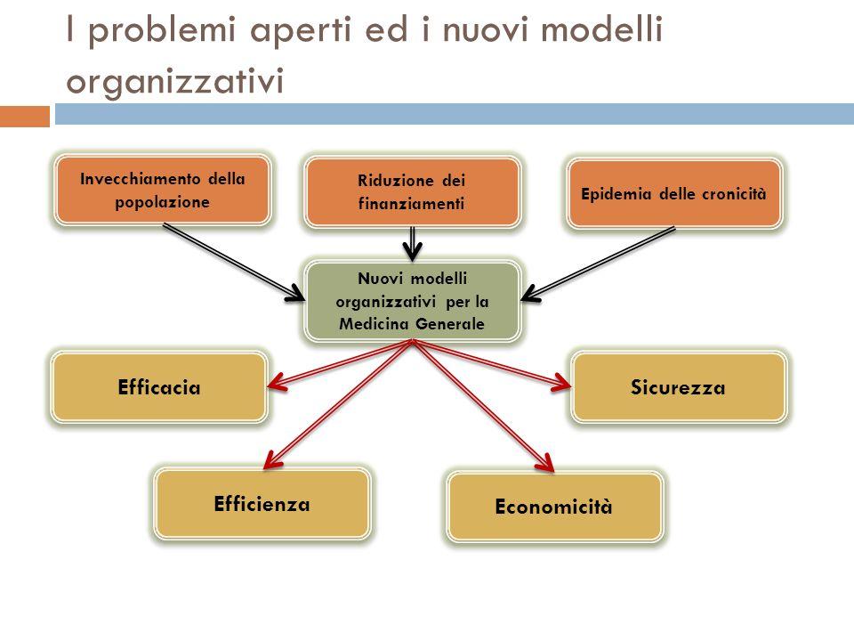 I problemi aperti ed i nuovi modelli organizzativi