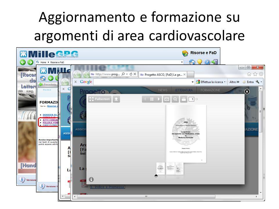 Aggiornamento e formazione su argomenti di area cardiovascolare