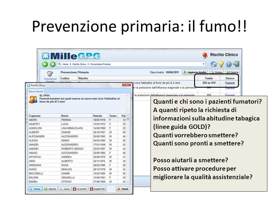 Prevenzione primaria: il fumo!!