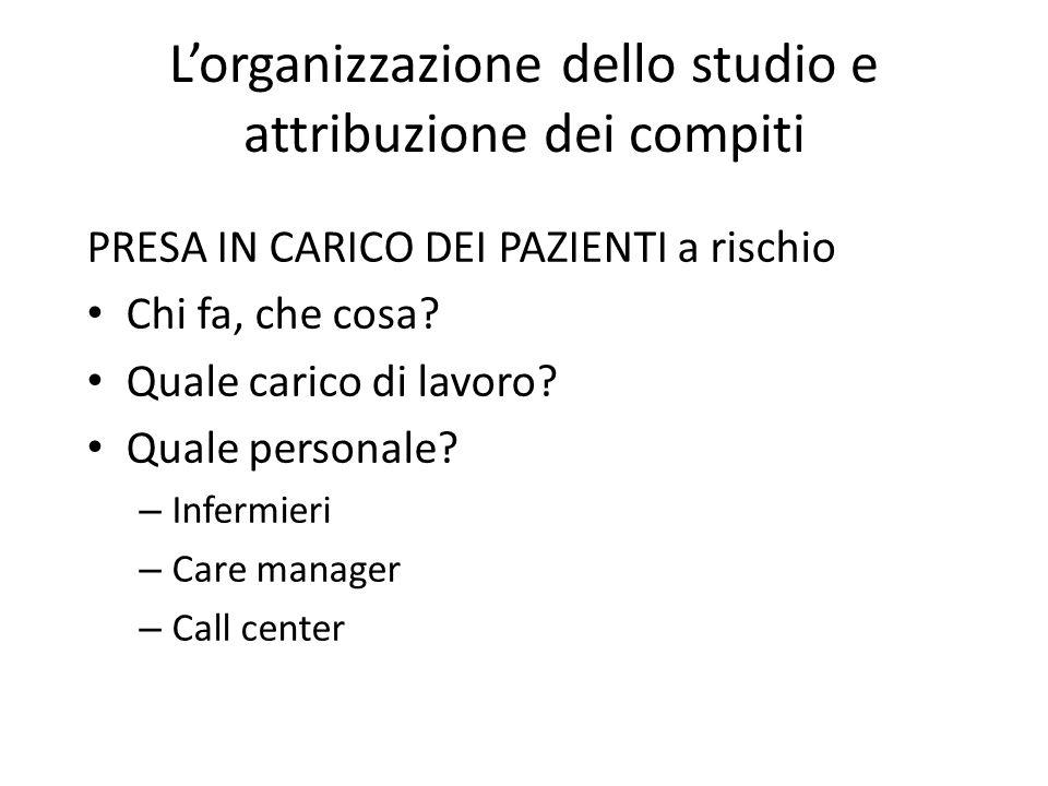L'organizzazione dello studio e attribuzione dei compiti