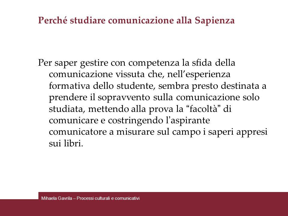 Perché studiare comunicazione alla Sapienza