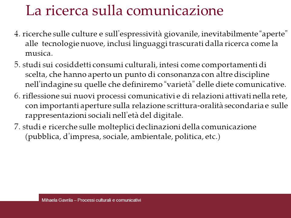 La ricerca sulla comunicazione