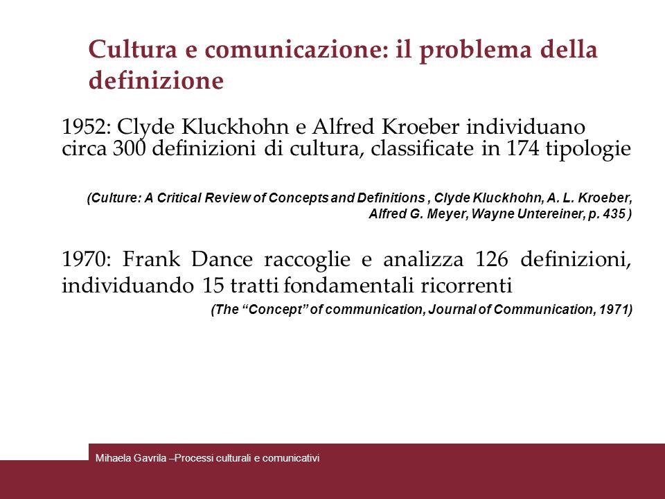 Cultura e comunicazione: il problema della definizione