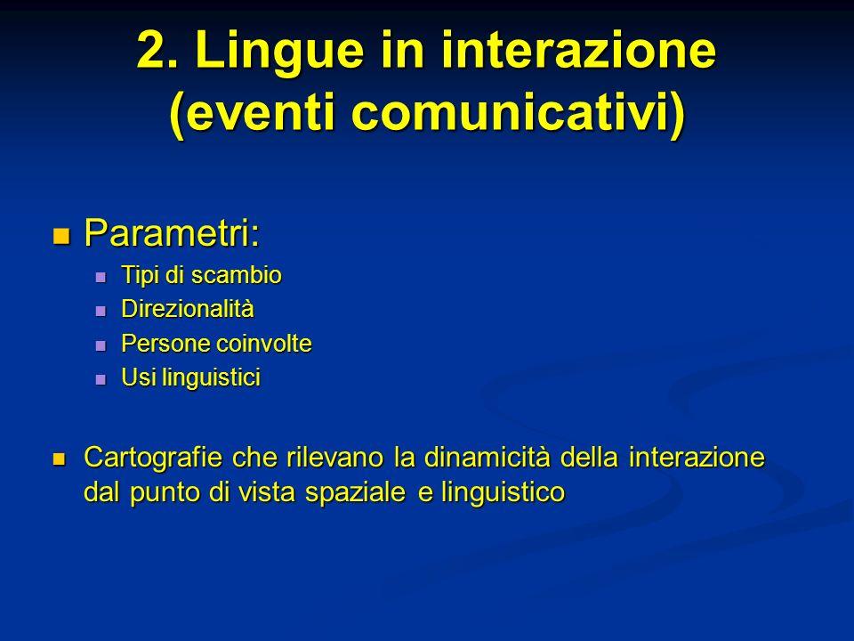 2. Lingue in interazione (eventi comunicativi)