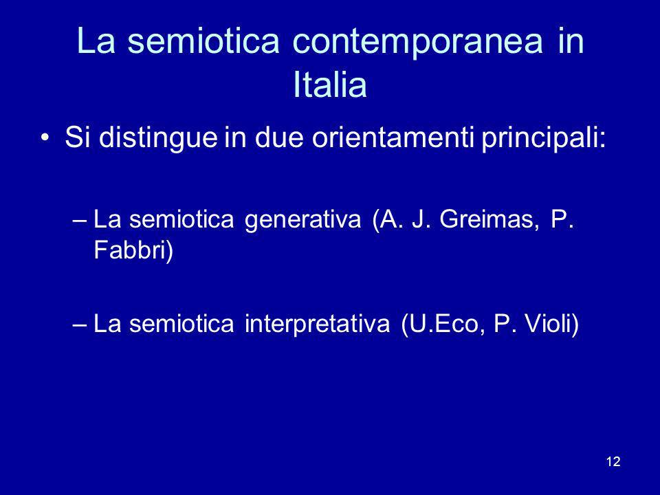La semiotica contemporanea in Italia