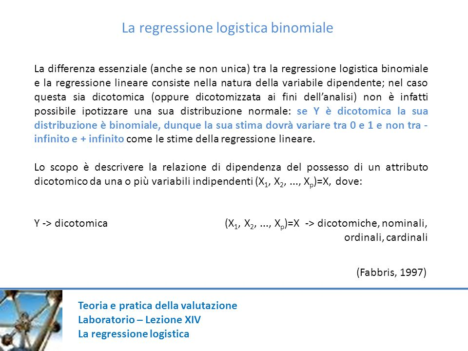 La regressione logistica binomiale