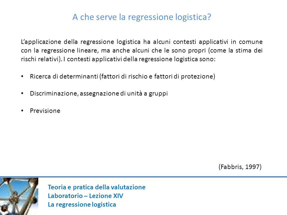 A che serve la regressione logistica