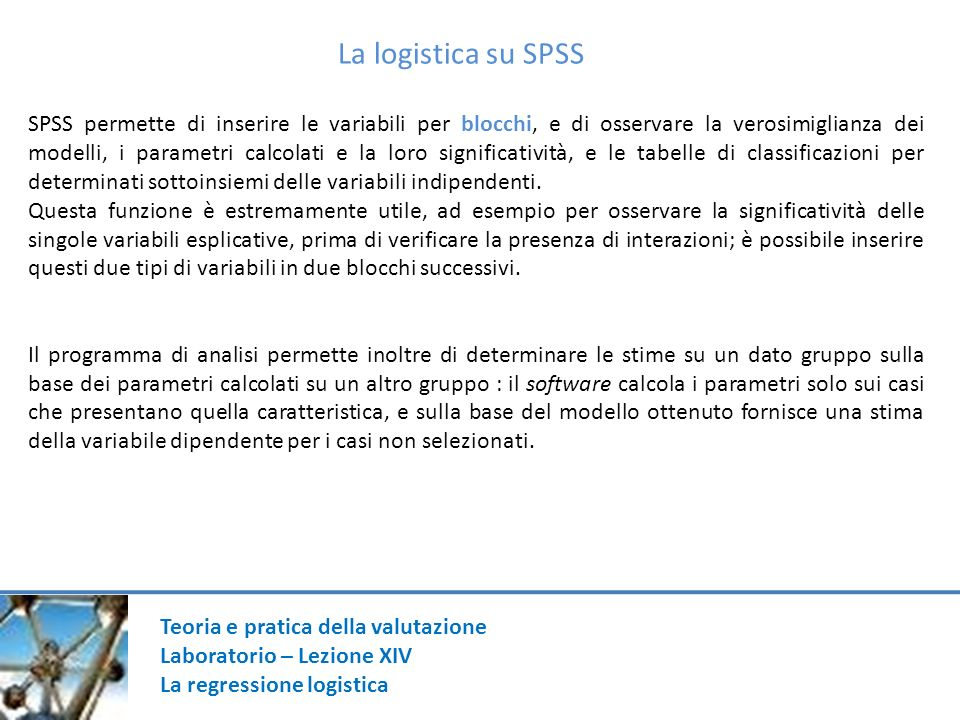 La logistica su SPSS