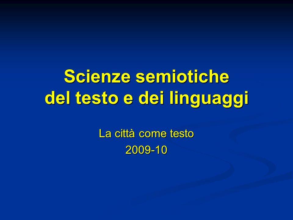Scienze semiotiche del testo e dei linguaggi
