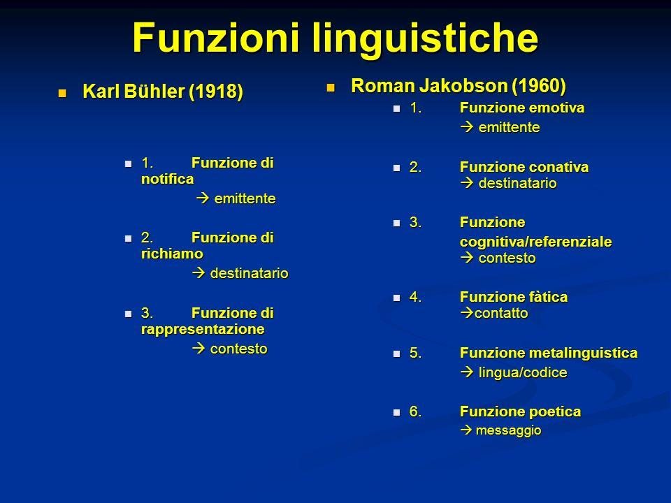 Funzioni linguistiche