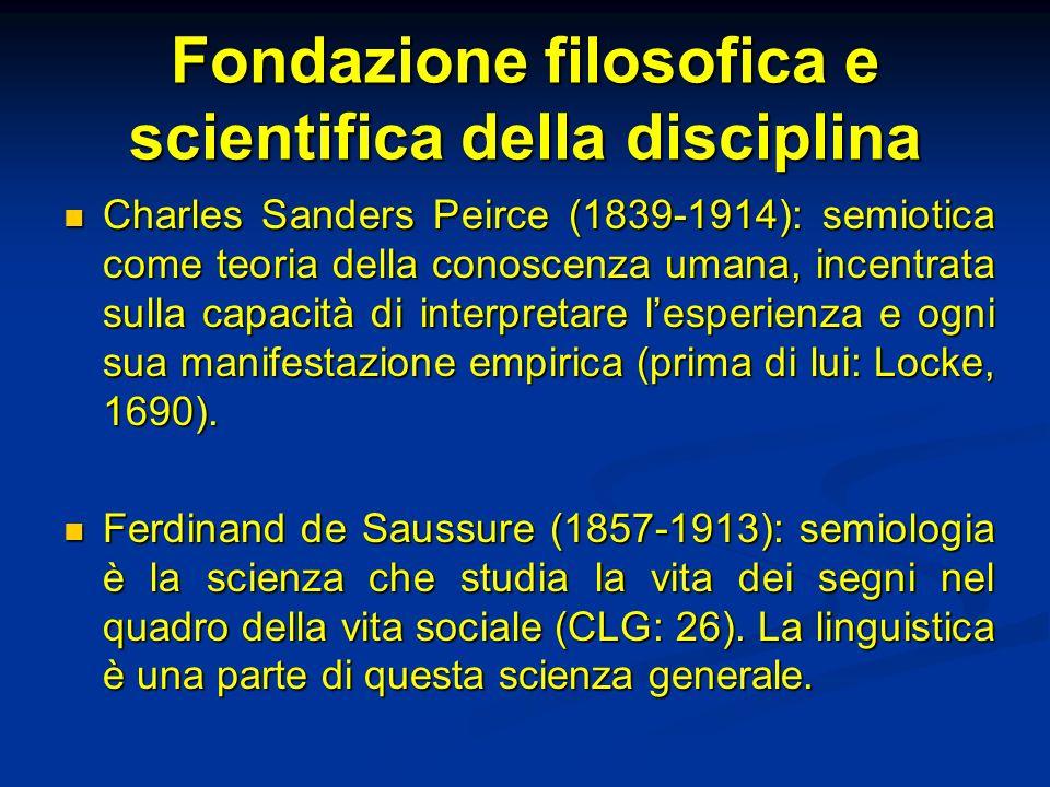 Fondazione filosofica e scientifica della disciplina