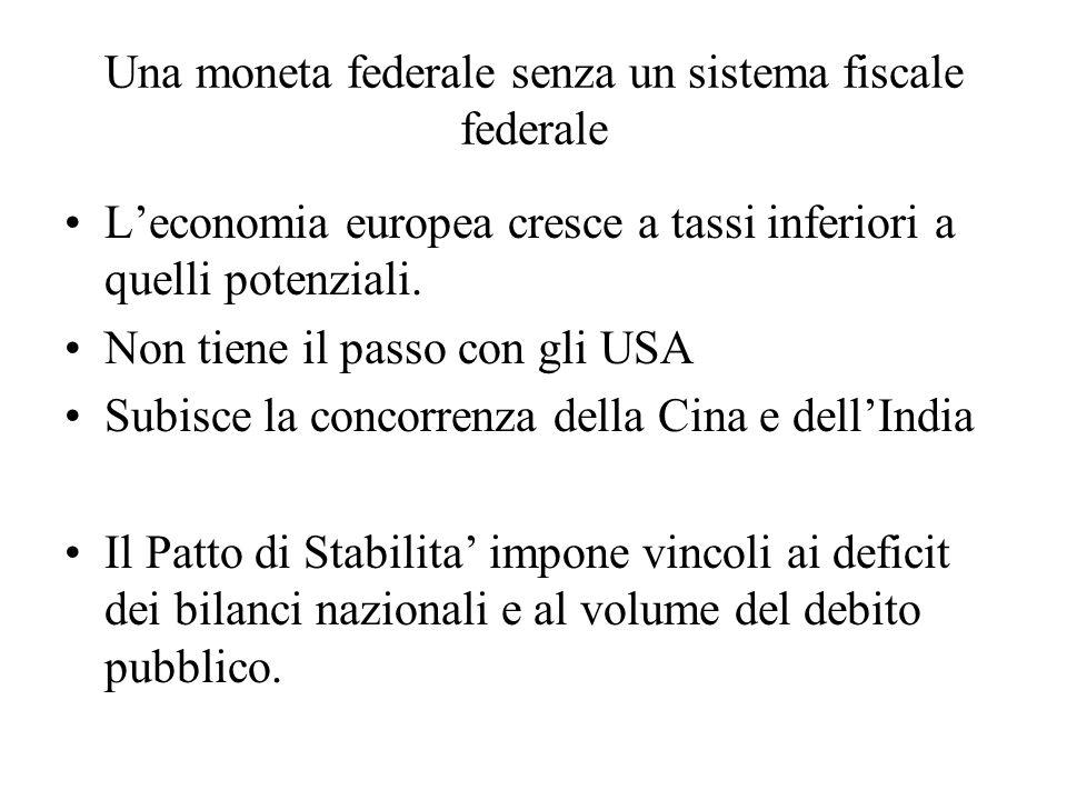 Una moneta federale senza un sistema fiscale federale
