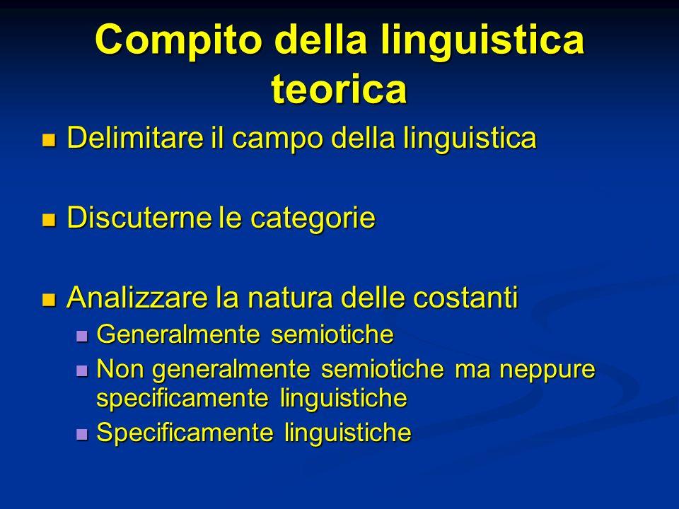 Compito della linguistica teorica