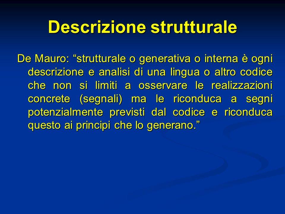 Descrizione strutturale