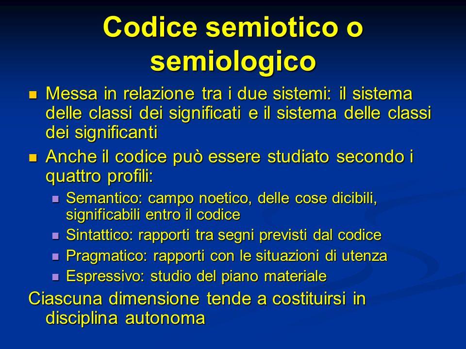 Codice semiotico o semiologico