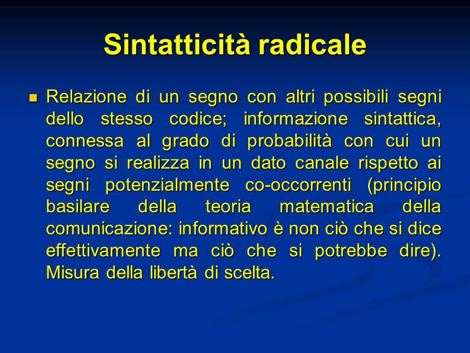 Sintatticità radicale