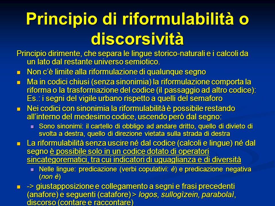 Principio di riformulabilità o discorsività