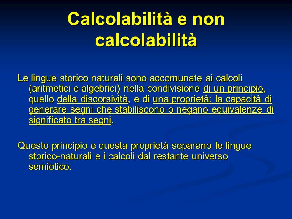 Calcolabilità e non calcolabilità