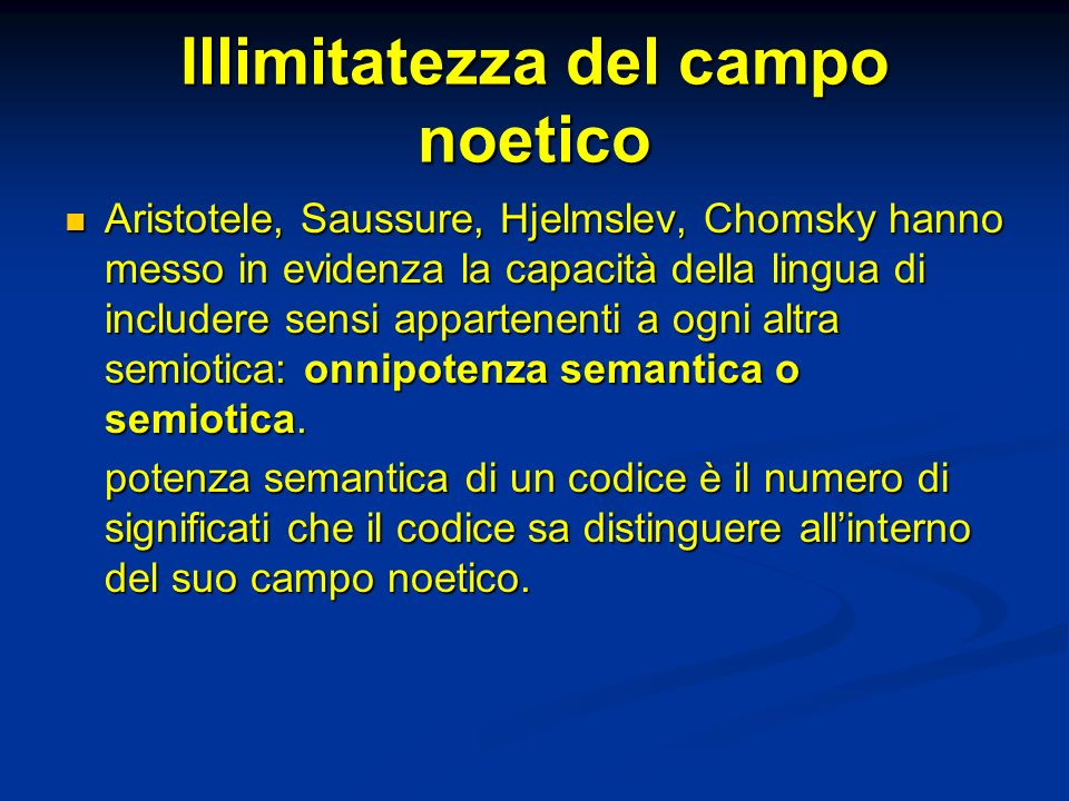 Illimitatezza del campo noetico