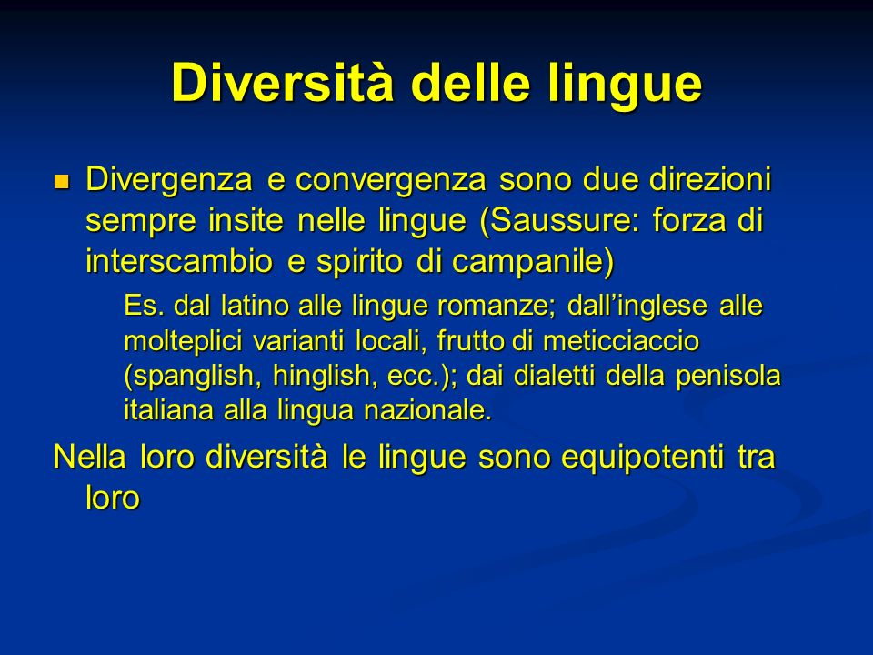 Diversità delle lingue