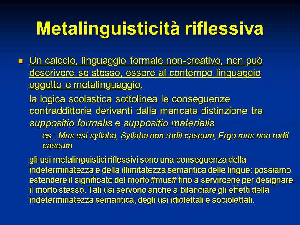 Metalinguisticità riflessiva