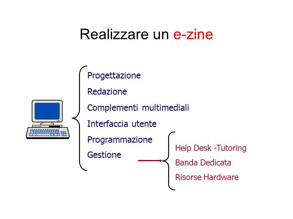 Realizzare un e-zine Progettazione Redazione Complementi multimediali