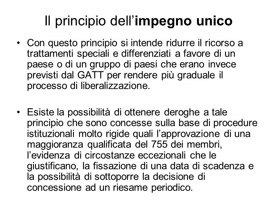 Il principio dell'impegno unico