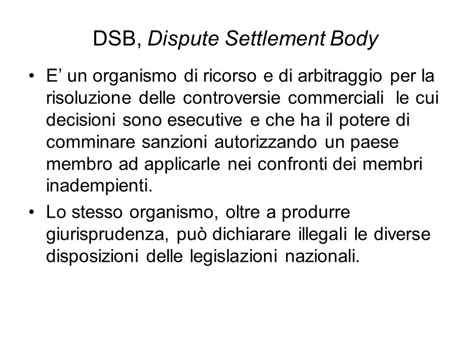 DSB, Dispute Settlement Body