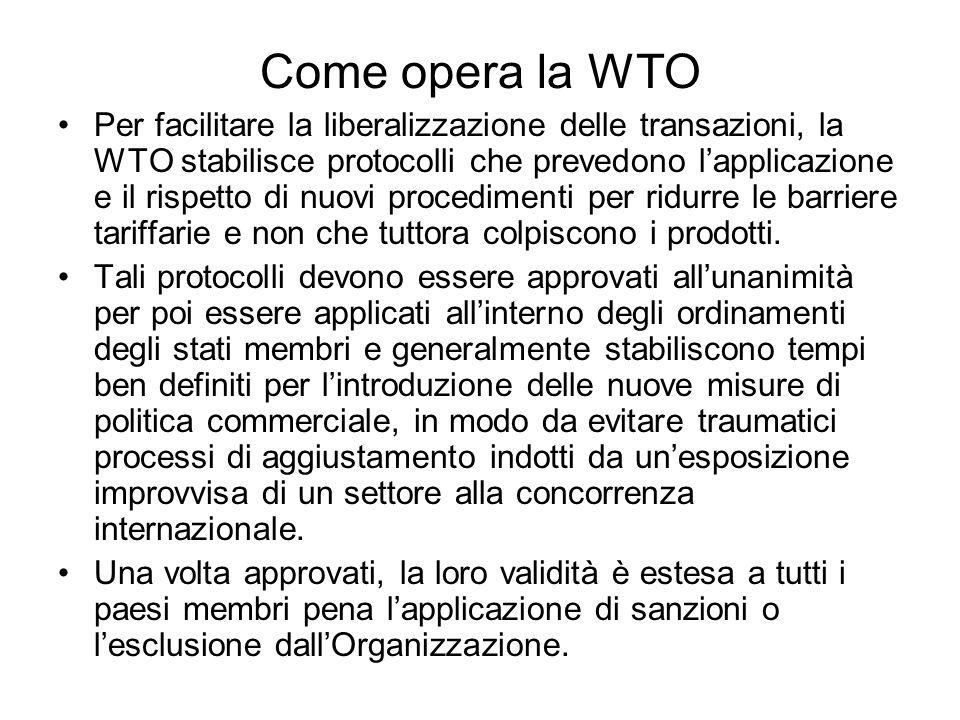 Come opera la WTO