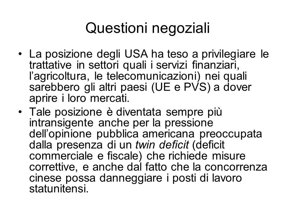 Questioni negoziali