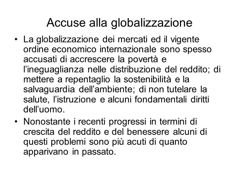 Accuse alla globalizzazione