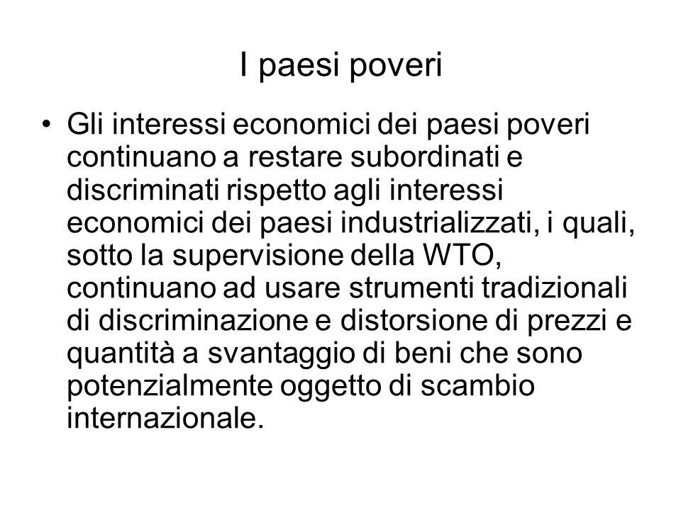 I paesi poveri