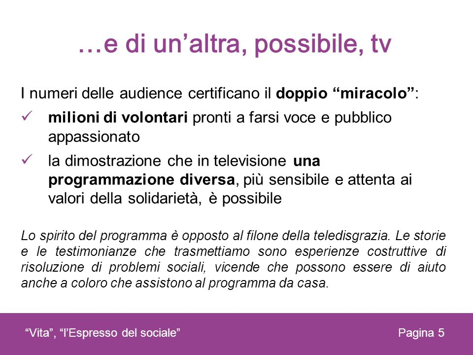 …e di un'altra, possibile, tv