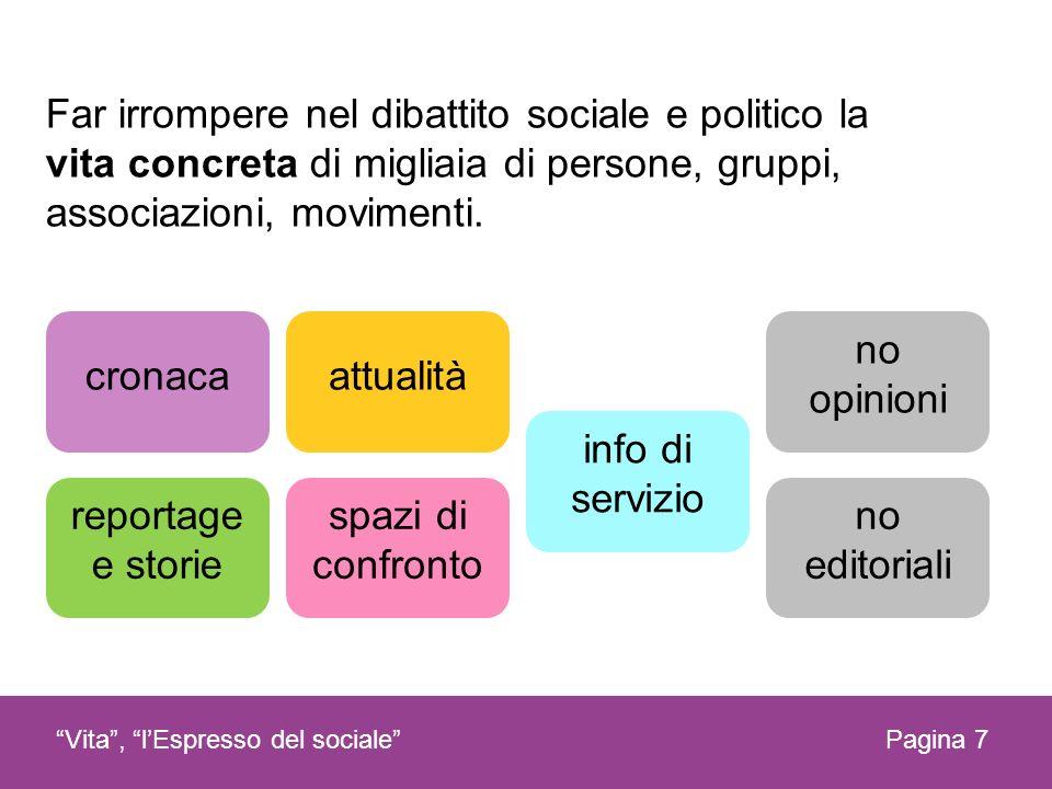 Far irrompere nel dibattito sociale e politico la vita concreta di migliaia di persone, gruppi, associazioni, movimenti.
