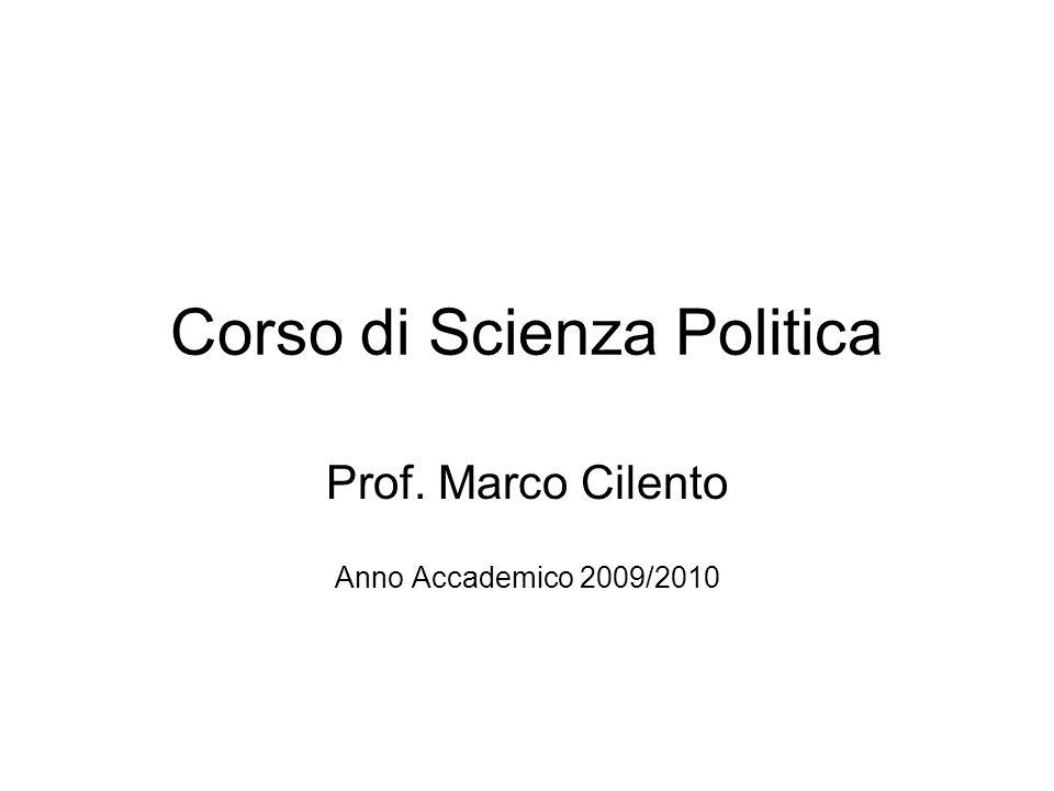 Corso di Scienza Politica