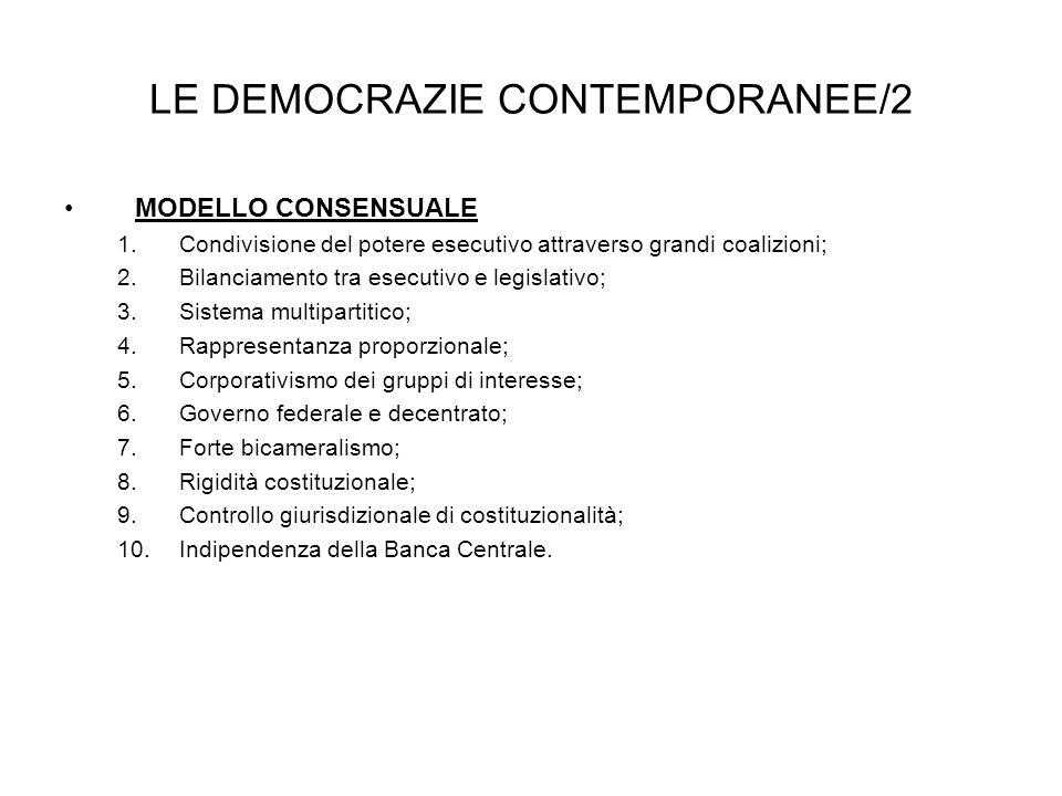 LE DEMOCRAZIE CONTEMPORANEE/2