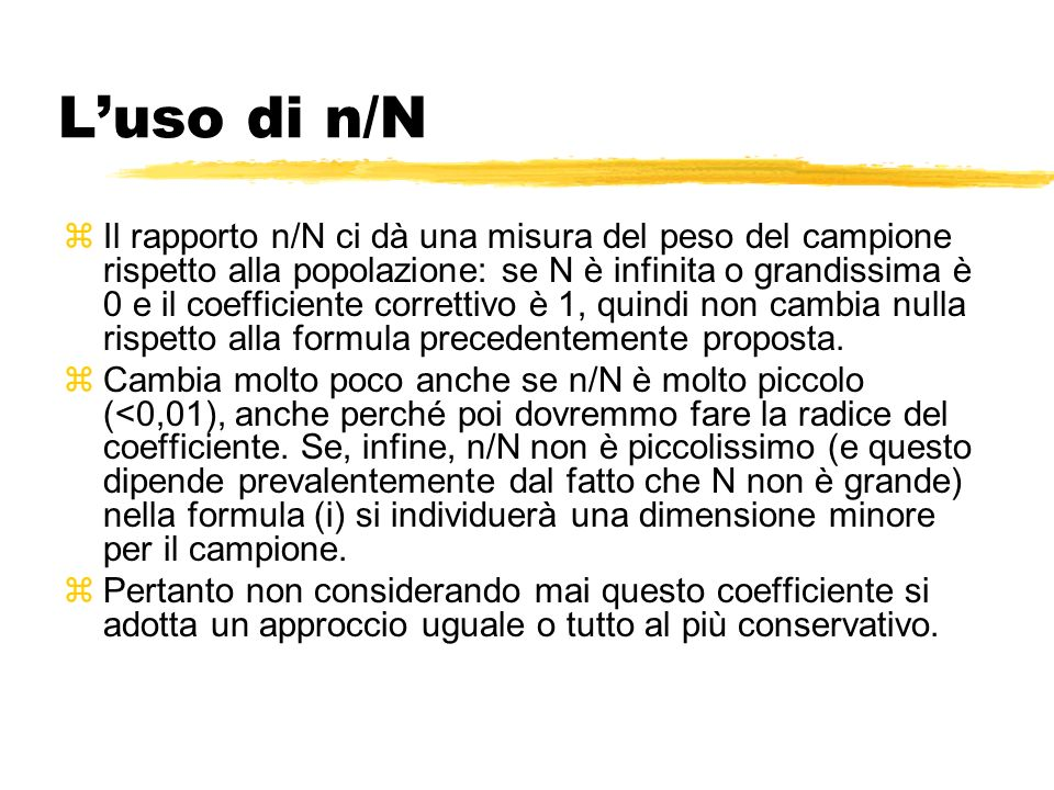 L'uso di n/N