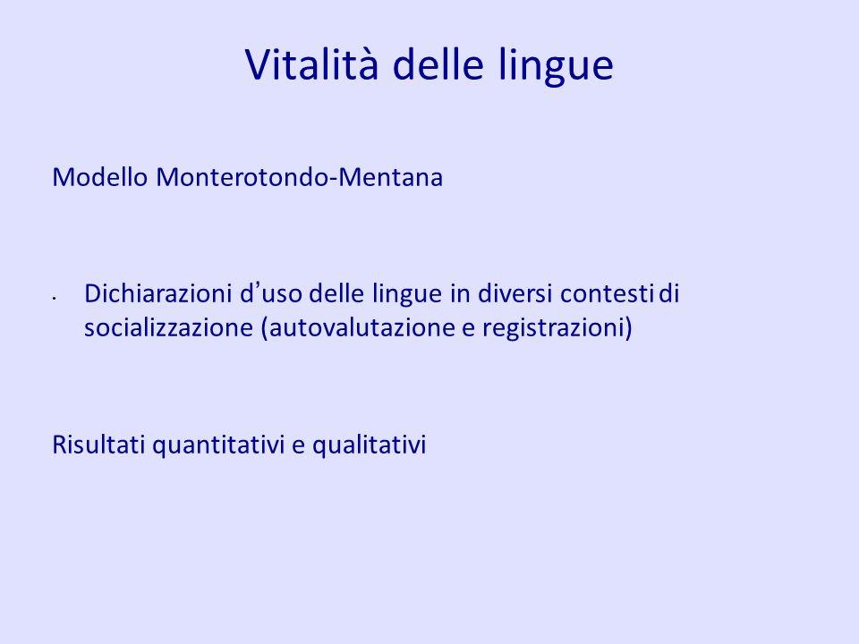 Vitalità delle lingue Modello Monterotondo-Mentana