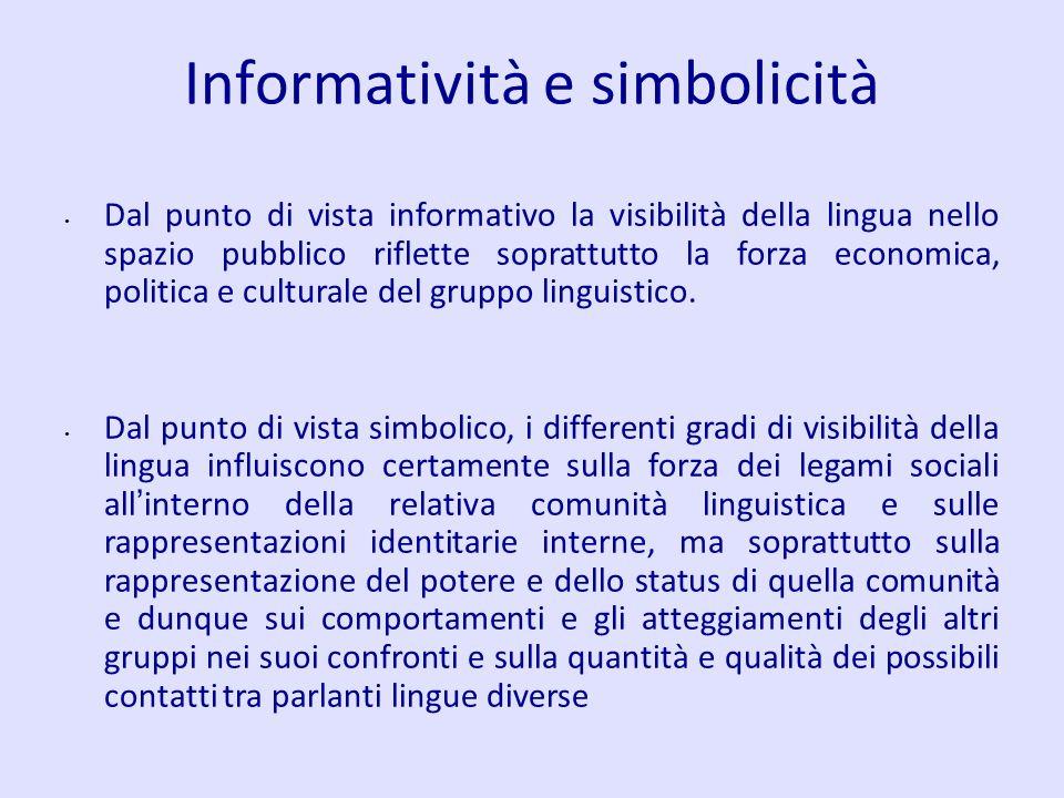 Informatività e simbolicità