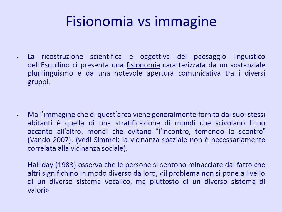 Fisionomia vs immagine
