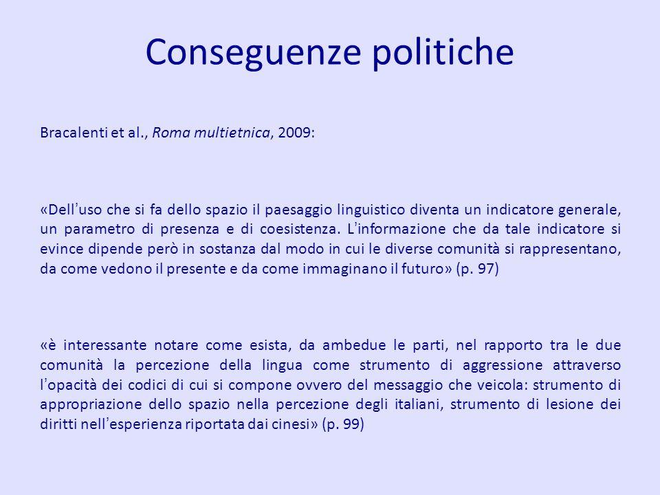 Conseguenze politiche