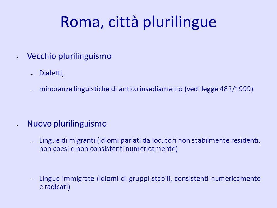 Roma, città plurilingue