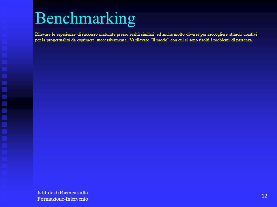 Benchmarking Istituto di Ricerca sulla Formazione-Intervento