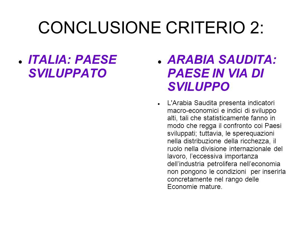 CONCLUSIONE CRITERIO 2: