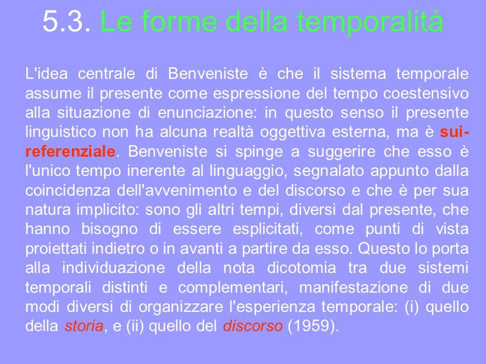 5.3. Le forme della temporalità