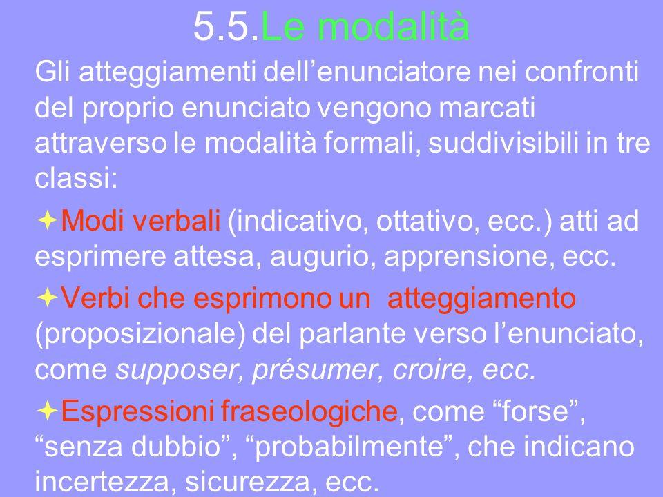 5.5.Le modalità