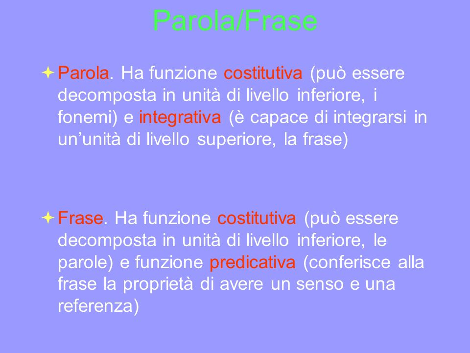 Parola/Frase